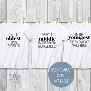 Sibling Shirt Set with Family Rules