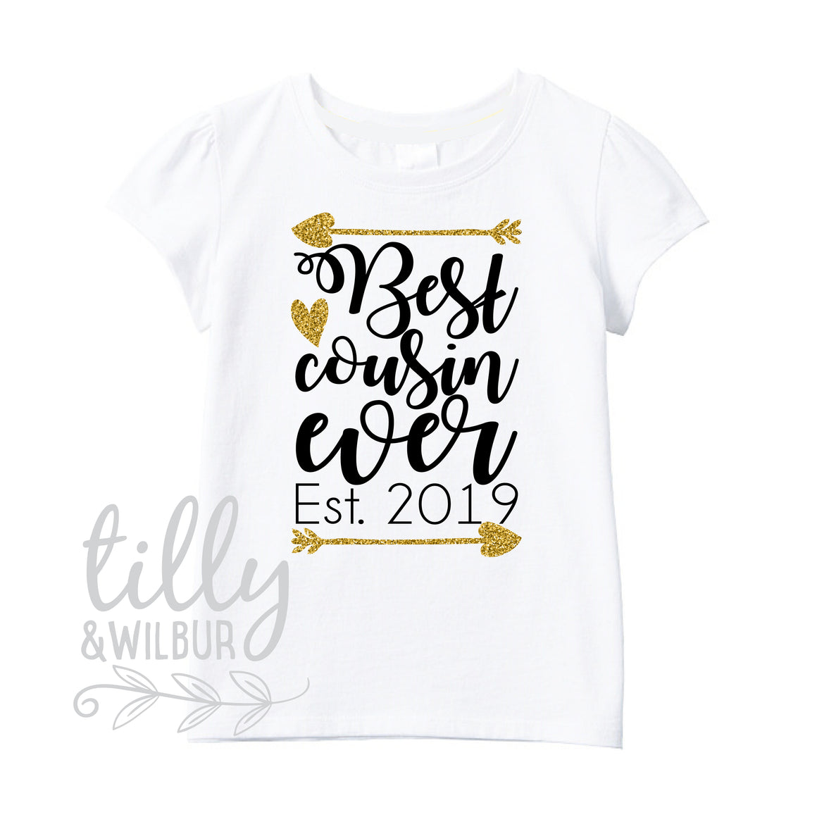 Best Cousin Ever Est. 2019 Girls T-Shirt