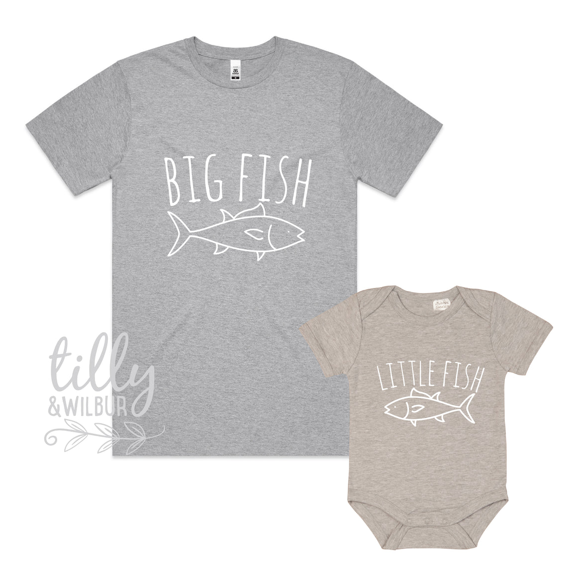 Big Fish Little Fish Father Son Matching Shirts