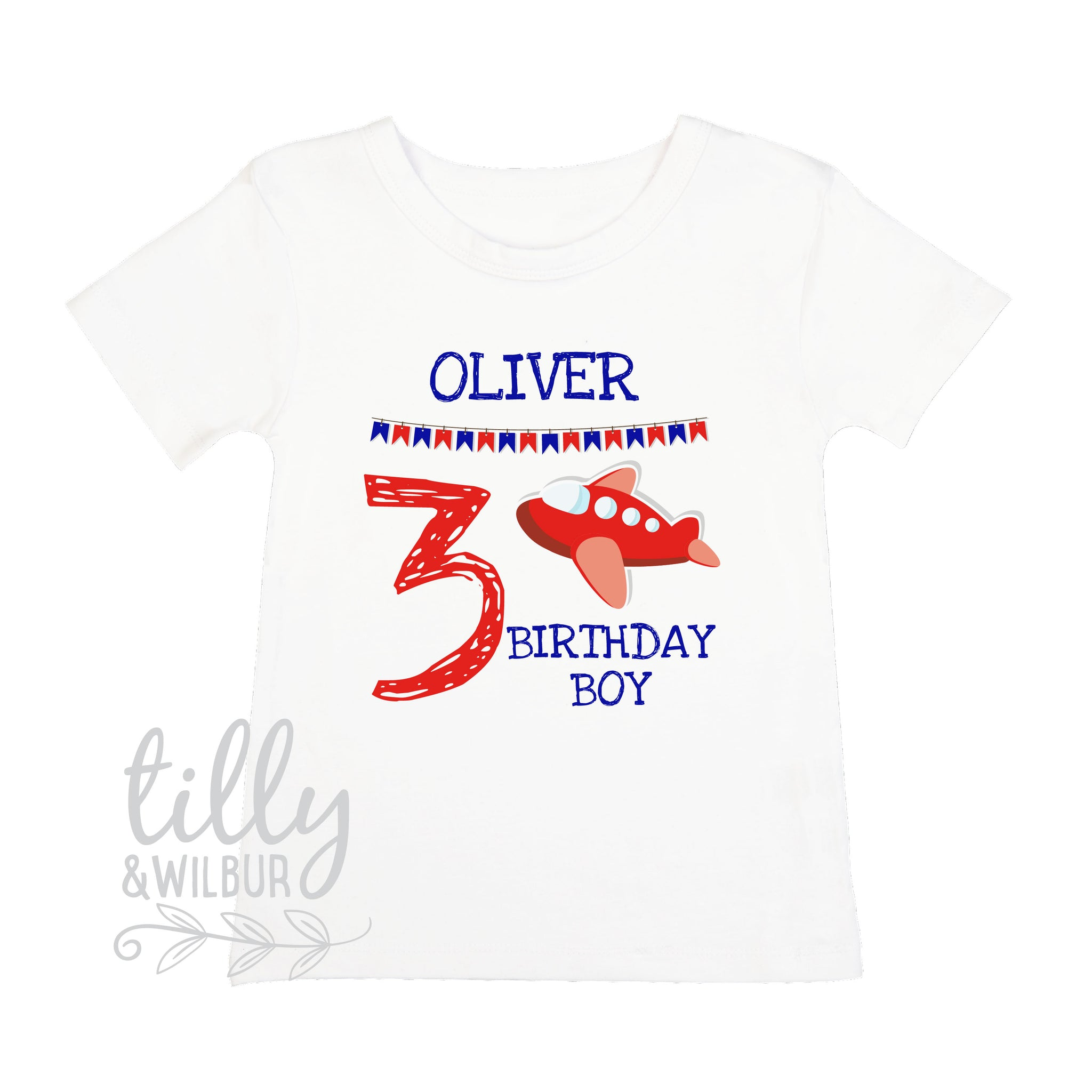 3rd Birthday T Shirt With Plane