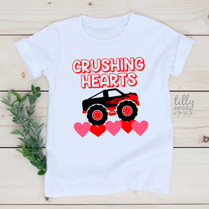 Crushing Hearts Kid's Valentine's Day T-Shirt