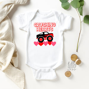 Crushing Hearts Valentine's Day Baby Bodysuit