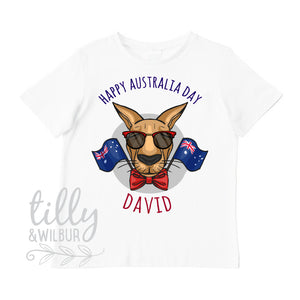 Happy Australia Day Personalised T-Shirt For Boys