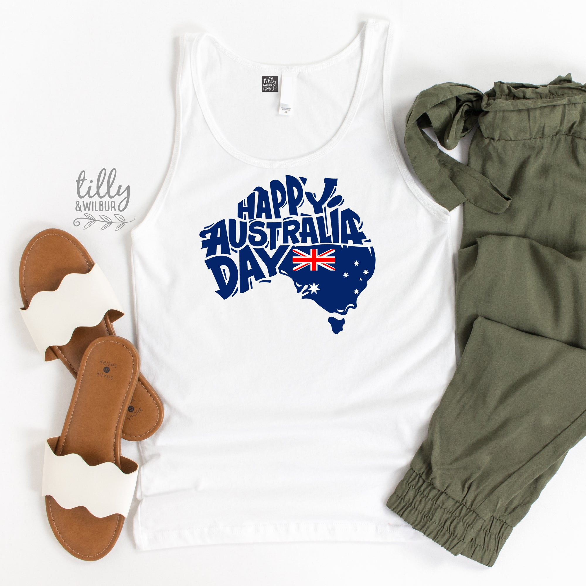 Happy Australia Day Women's Singlet