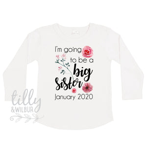 I'm Going To Be A Big Sister Long Sleeve T-Shirt For Girls