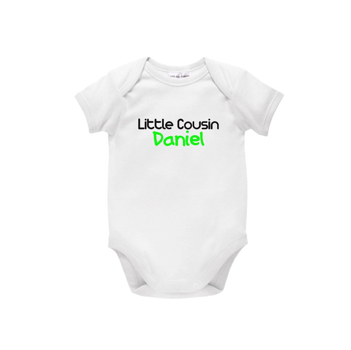 Little Cousin Personalised Baby Bodysuit, Pregnancy Announcement, Family Clothing, New Baby Gift, Baby Shower Gift, Cousin To Be, U-W-BS