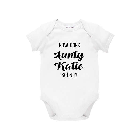 How Does Aunty Sound? Personalised Pregnancy Announcement, You're Going To Be An Auntie For Sister Aunt Auntie, Family Announcement, U-W-BS