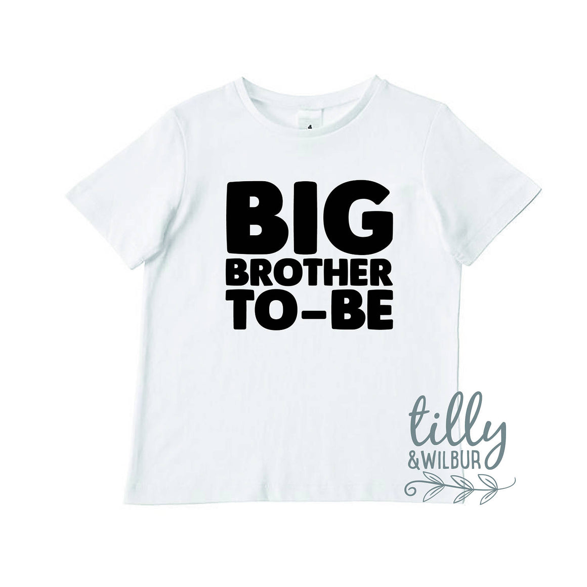 Big Brother To-Be Boys Tee, Big Brother Announcement Shirt, Big Bro Gift, Pregnancy Announcement Shirt, Reveal Outfit, Sibling TShirt, White