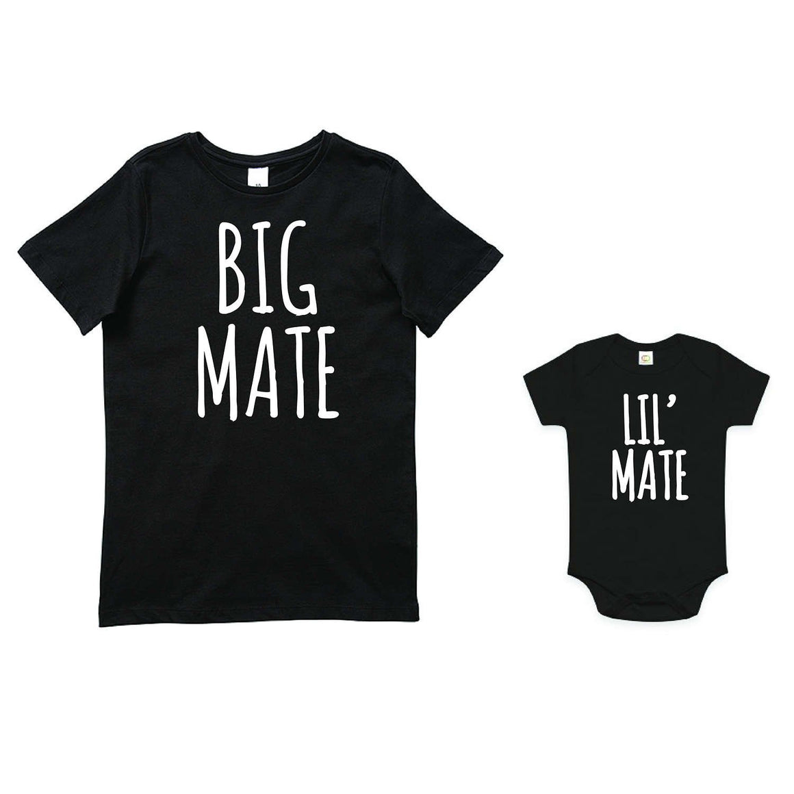 Big Mate Lil' Mate Set, Friends Set, Brother Set, Sibling Set, Brother Gift, Pregnancy Announcement, Reveal Outfits, Family Tees, Australian