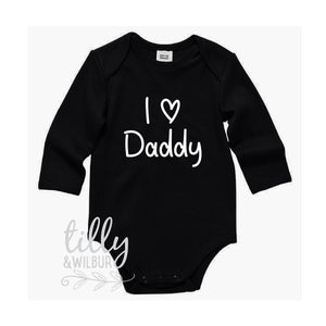 I Love Daddy Bodysuit For Father's Day, Daddy I Love You Onezie, Father's Day Outfit, 1st Father's Day, Best Daddy Ever