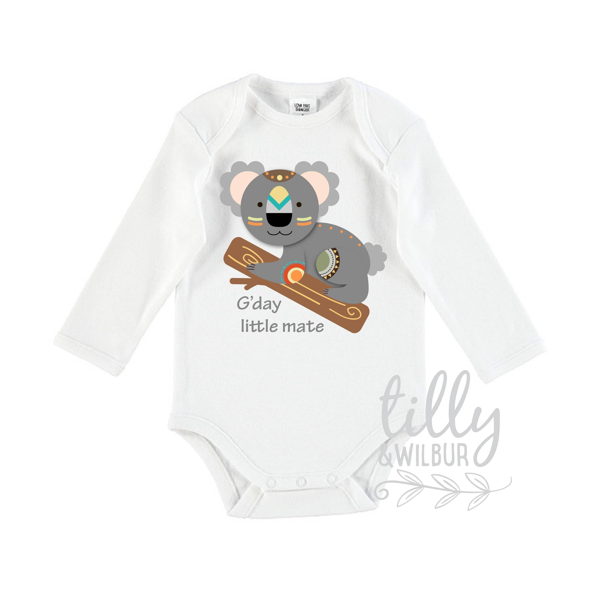Koala Bear Baby Bodysuit, G'day Little Mate, Baby Shower, New Baby Gift, Newborn Gift, Koala Bear Gift, Australiana, Koala Baby, U-W-BS