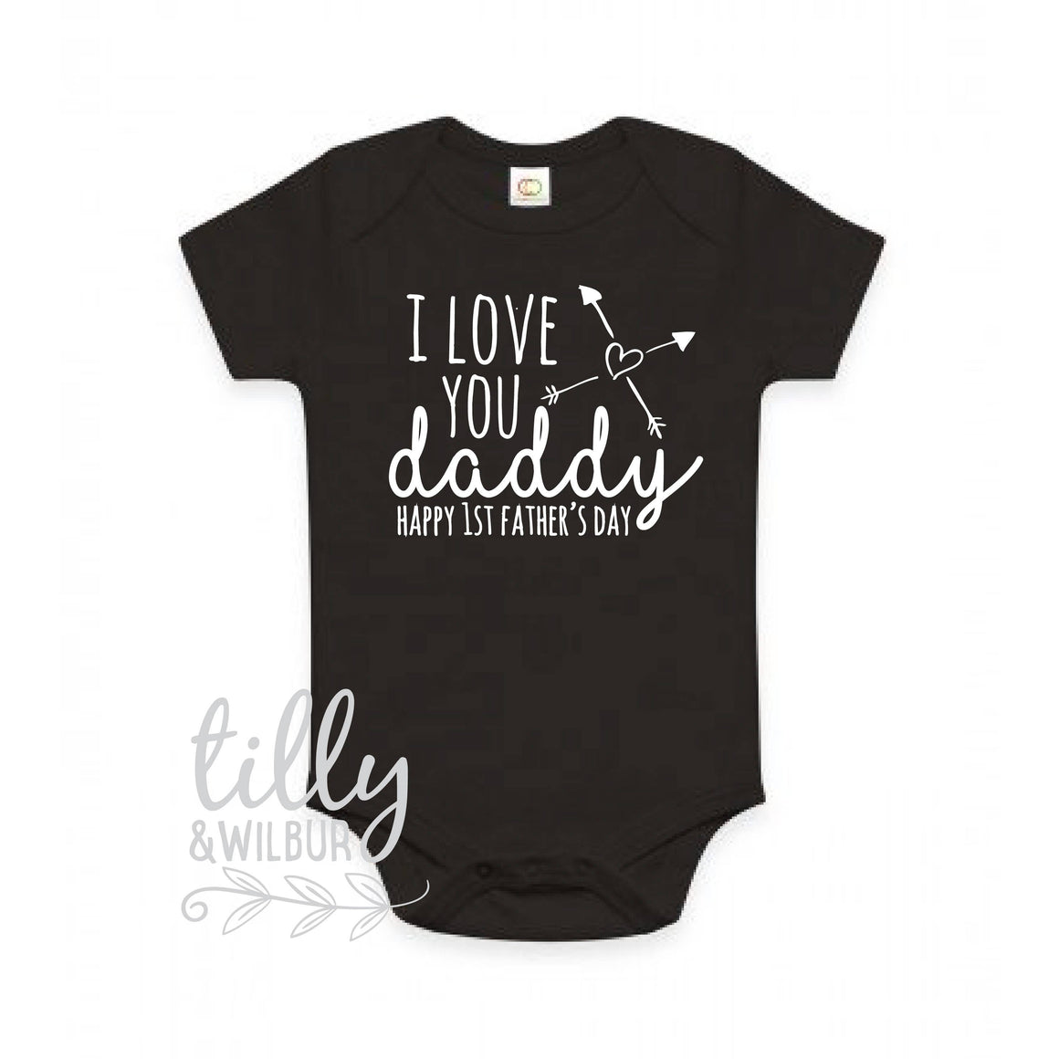 I Love You Daddy Happy 1st Father's Day, Father's Day Bodysuit, Father's Day Baby Outfit, First Fathers Day Baby Gift, Daddy, U-BK-BS