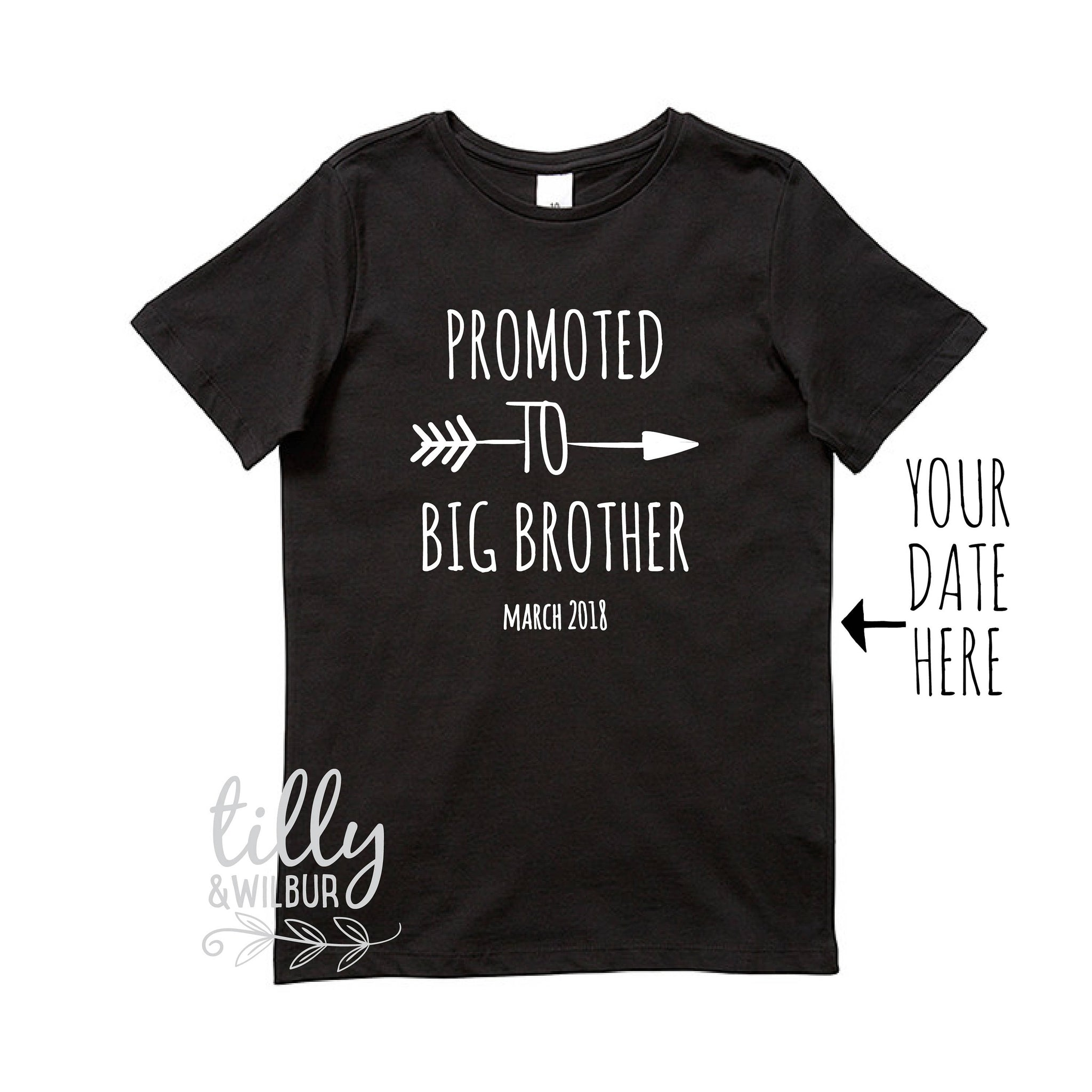 vests baby announcement Personalised promoted to big brother//sister t shirts