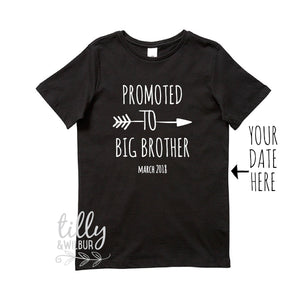 Promoted To Big Brother T-Shirt For Boys, Personalised Big Brother Shirt, I'm Going To Be A Big Brother, Pregnancy Announcement, Big Bro