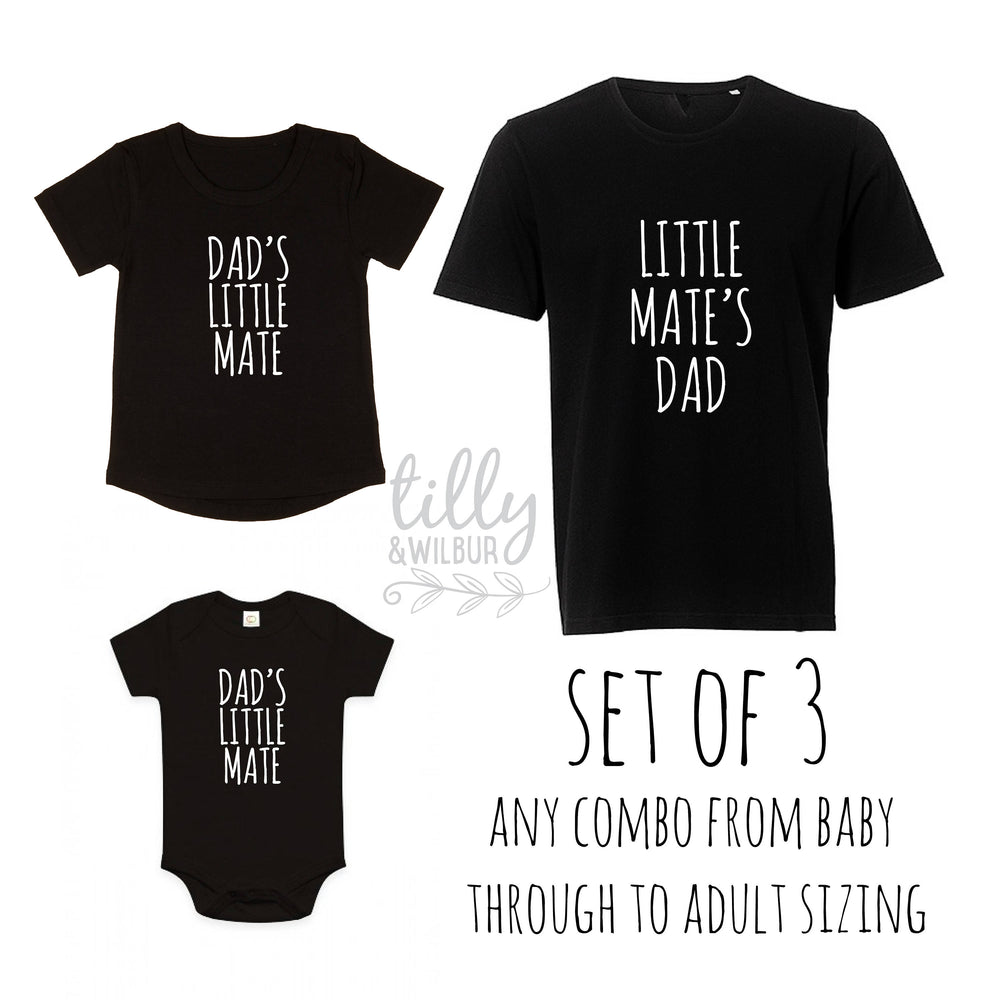 Dad's Little Mate, Little Mate's Dad Matching Daddy Baby Outfits