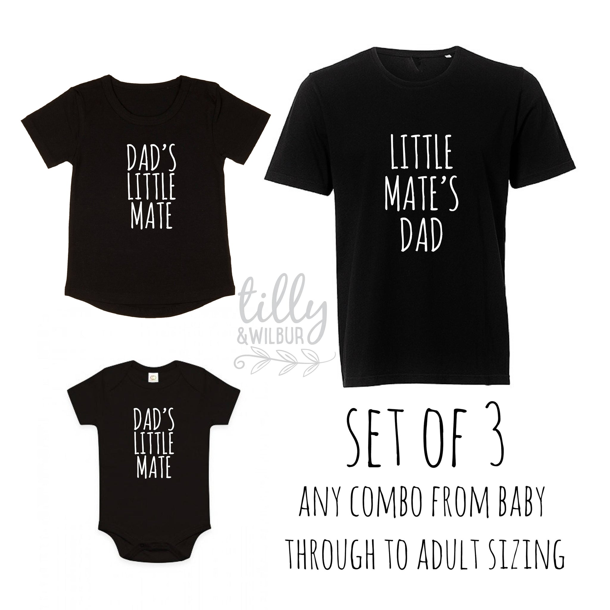 11616903 Father's Day Shirts, Father Son Matching Shirts, Dad's Little Mate, Little Mate's  Dad
