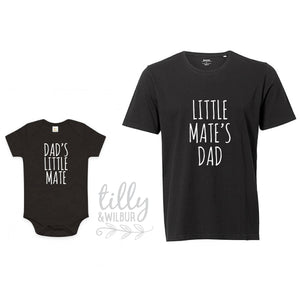 Little Mate's Grandad, Father's Day Shirts, Father Son Grandson Matching Shirts, Matching Daddy Baby Outfits, First 1st Father's Day