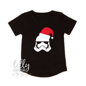 Star Wars Stormtrooper Christmas Child's T-Shirt, Christmas Stormtrooper, Girl, Boy, Santa Stormtrooper, Unisex Star Wars Storm Trooper Gift