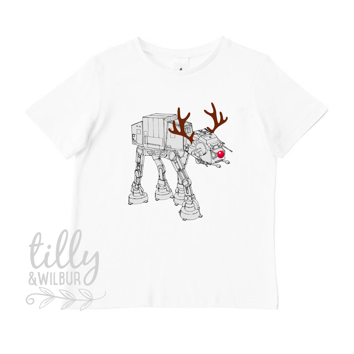 Star Wars AT-AT Walker Christmas Reindeer Boy's T-Shirt, Christmas at at walker, Boy's Xmas Gift, Christmas Walker, Star Wars Gift For Boys