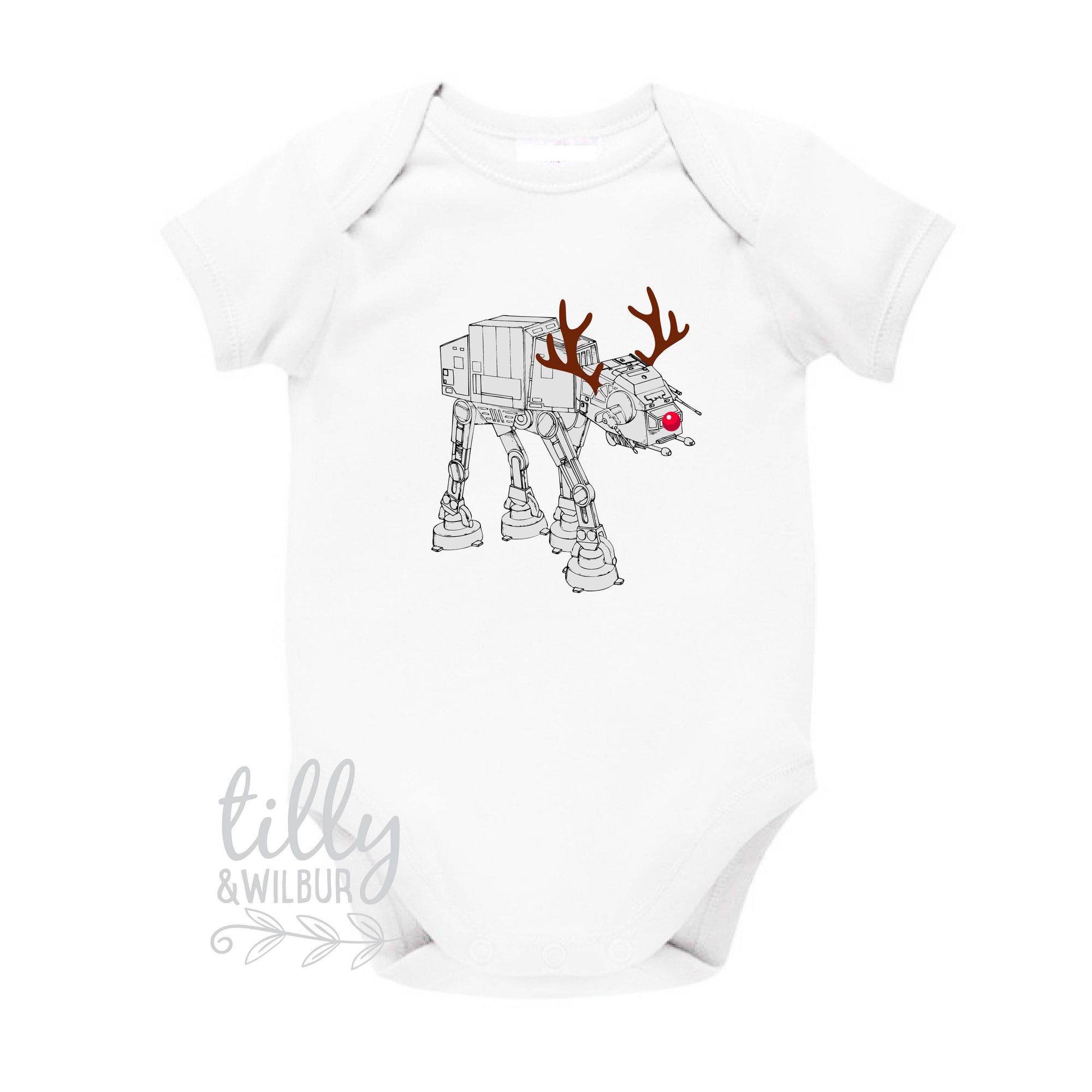 Star Wars AT-AT Walker Christmas Baby Bodysuit, Reindeer at-at,  Christmas Walker, Star Wars Gift, Star Wars Baby, Star Wars Walker at at