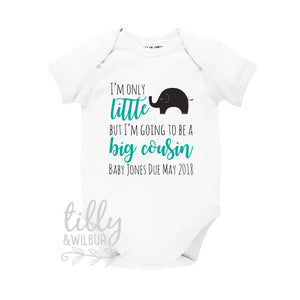 I'm Only Little But I'm Going To Be A Big Cousin Baby Bodysuit, Personalised Cousin Shirt, Baby Cousin Outfit, Cousin Gift, Cousin Shirt