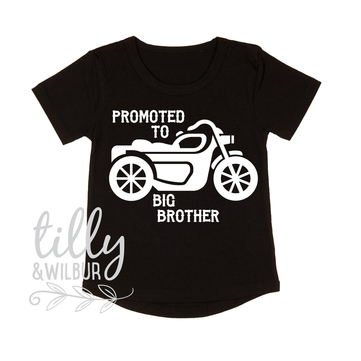 Promoted To Big Brother Motorbike T-Shirt For Boys, Big Brother Shirt, I'm Going To Be A Big Brother, Pregnancy Announcement, Boys Clothing