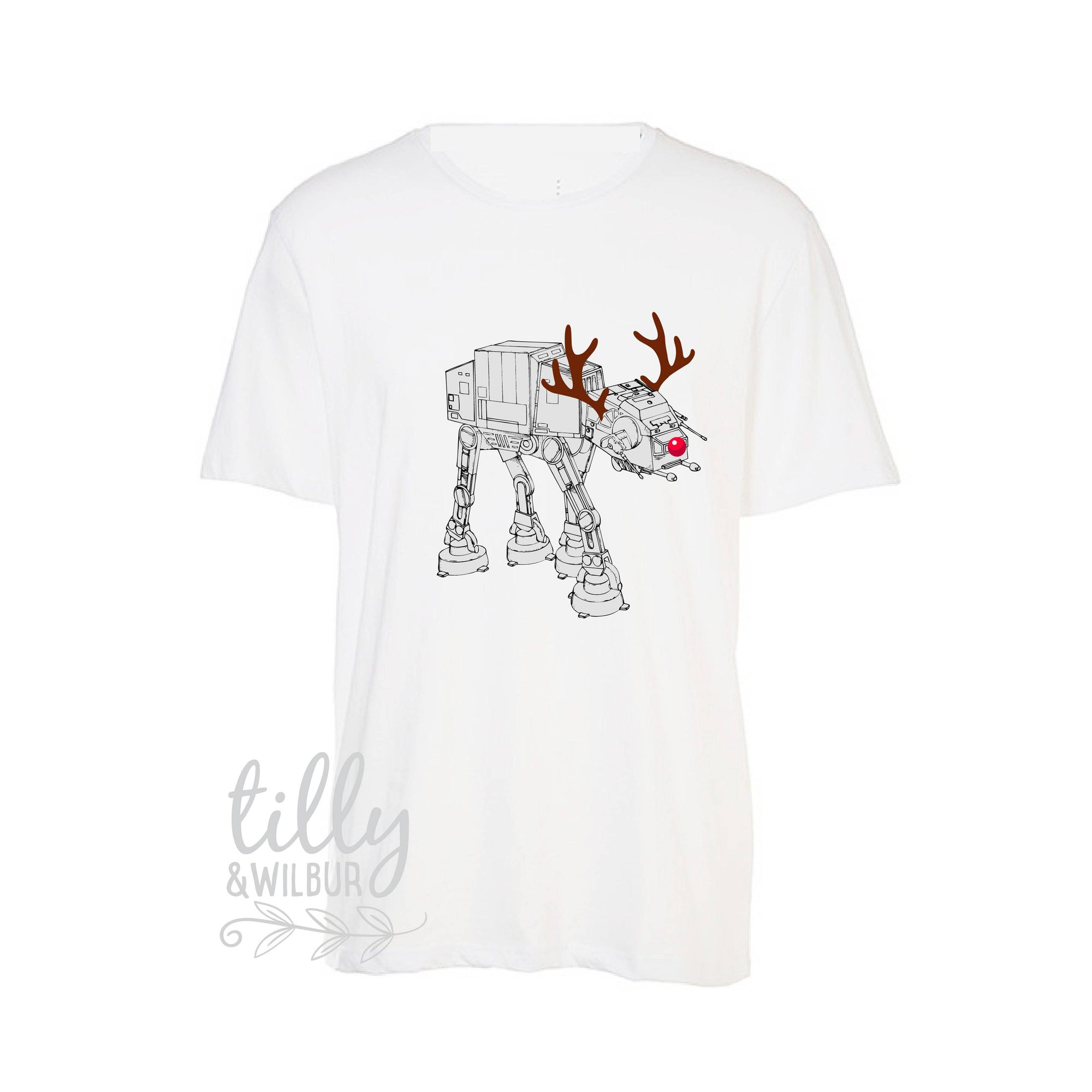 Star Wars AT-AT Walker Christmas T-Shirt For Men, Christmas at-at, Reindeer Star Wars Walker, Star Wars Gift, Star Wars Xmas, Mens Star Wars