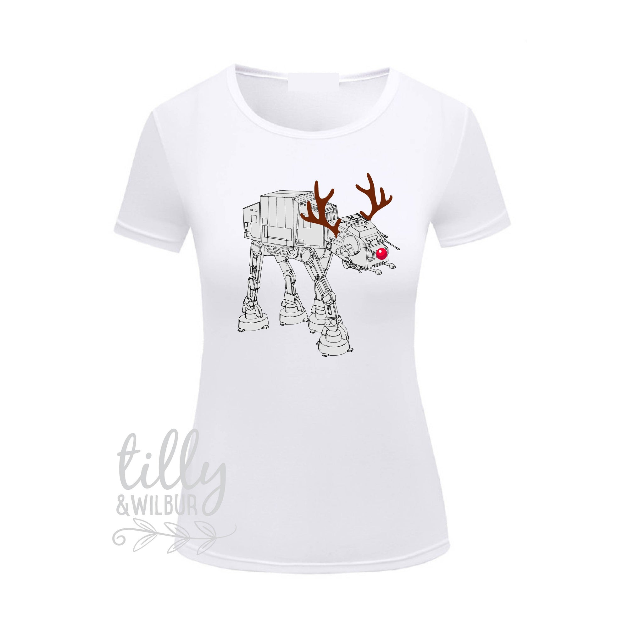 Star Wars AT-AT Walker Christmas Women's T-Shirt, Star Wars Xmas Gift, at-at Walker, Star Wars Gift, Christmas Gift, Women's T-Shirt, At At