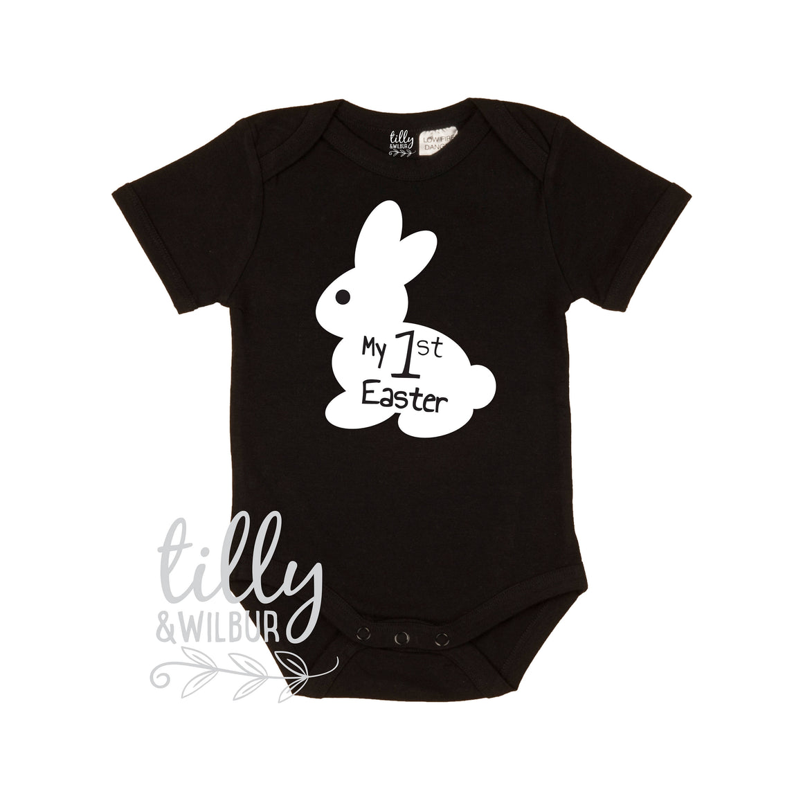 My 1st Easter Baby Bodysuit, First Easter One-Piece, Newborn Easter Gift, 1st Easter Outfit, Baby's 1st Easter, Bunny Rabbit, U-W-BS