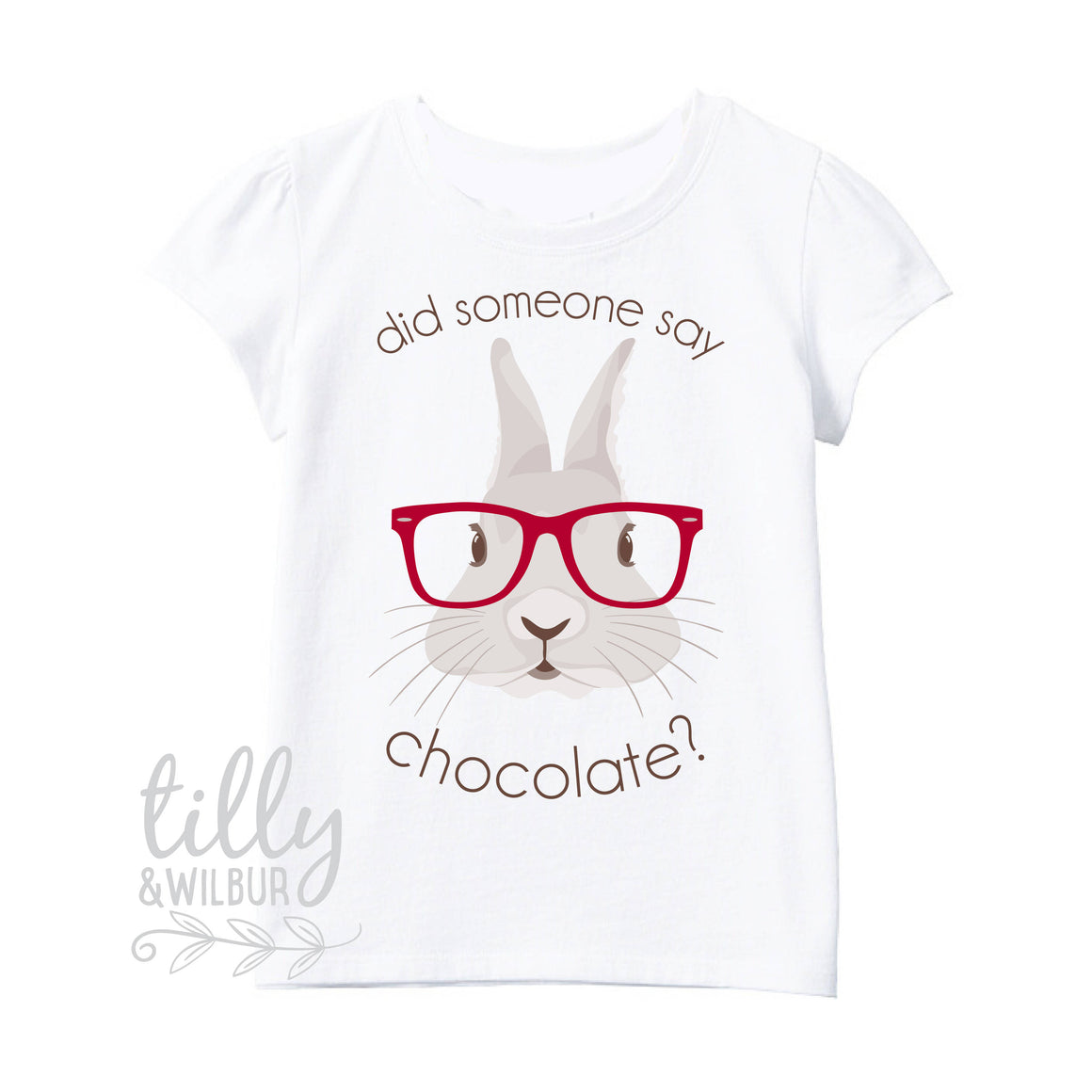 Easter T-Shirt For Girls, Did Someone Say Chocolate, Easter Bunny Shirt, Easter Egg Hunt, Easter Gift, Girls Easter Gift, Girls Easter Shirt