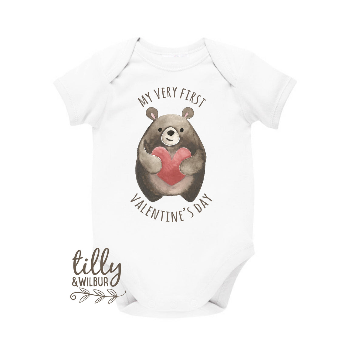 My Very First Valentine's Day Bear With Love Heart, 1st Valentine's Day, Baby's First Valentine's Day, 1st Valentine's Day Newborn Outfit