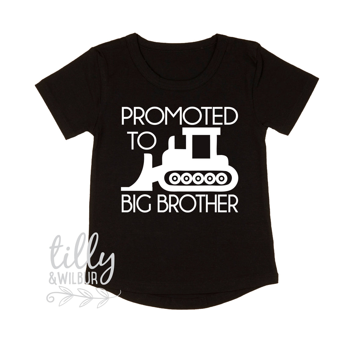 Promoted To Big Brother Digger T-Shirt For Boys, Big Brother Shirt, I'm Going To Be A Big Brother, Pregnancy Announcement, Boys Clothing