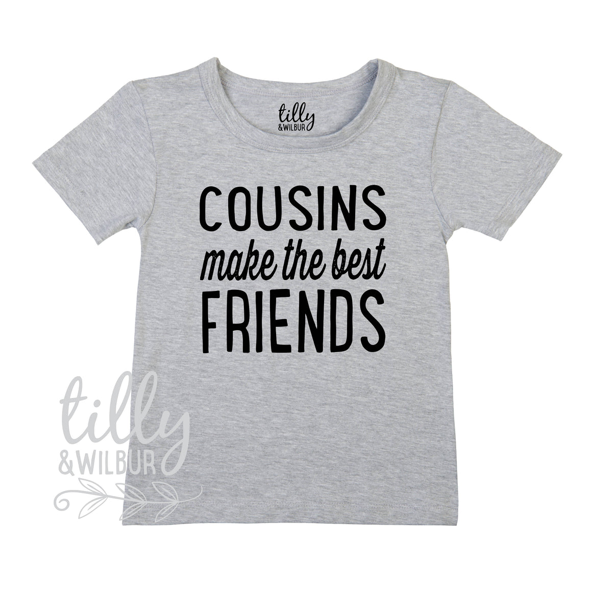 Cousins Make The Best Friends T-Shirt For Boys & Girls, Pregnancy Announcement Gift, Family Announcement T-Shirt, Unisex Cousin Shirt