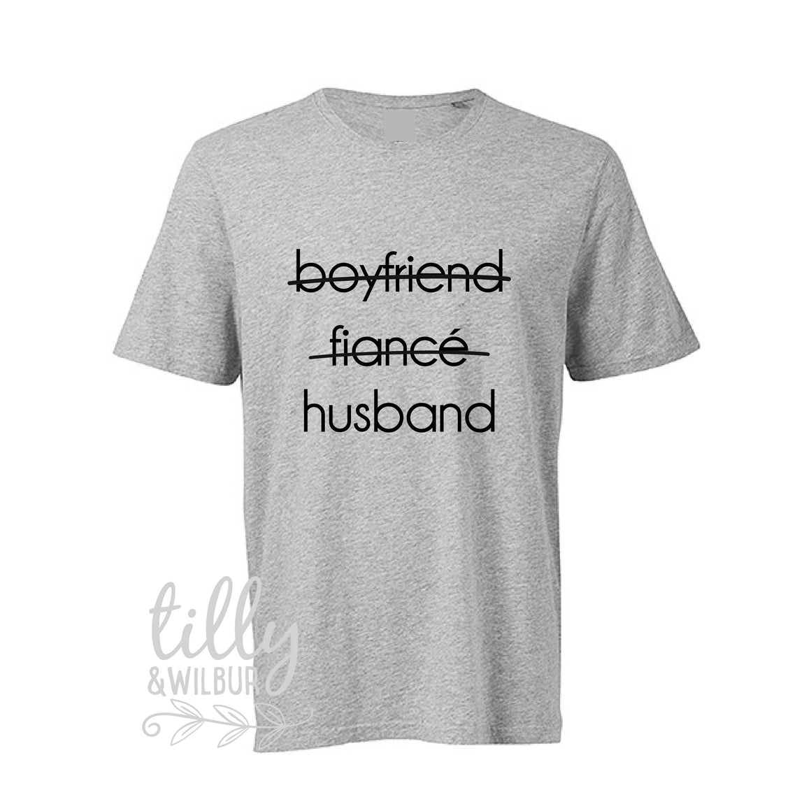 Boyfriend Fiance Husband Men's T-Shirt, Wedding Gift, Wedding Outfit, Engagement, Bucks Party, Husband Gift, Newly Engaged, Just Married