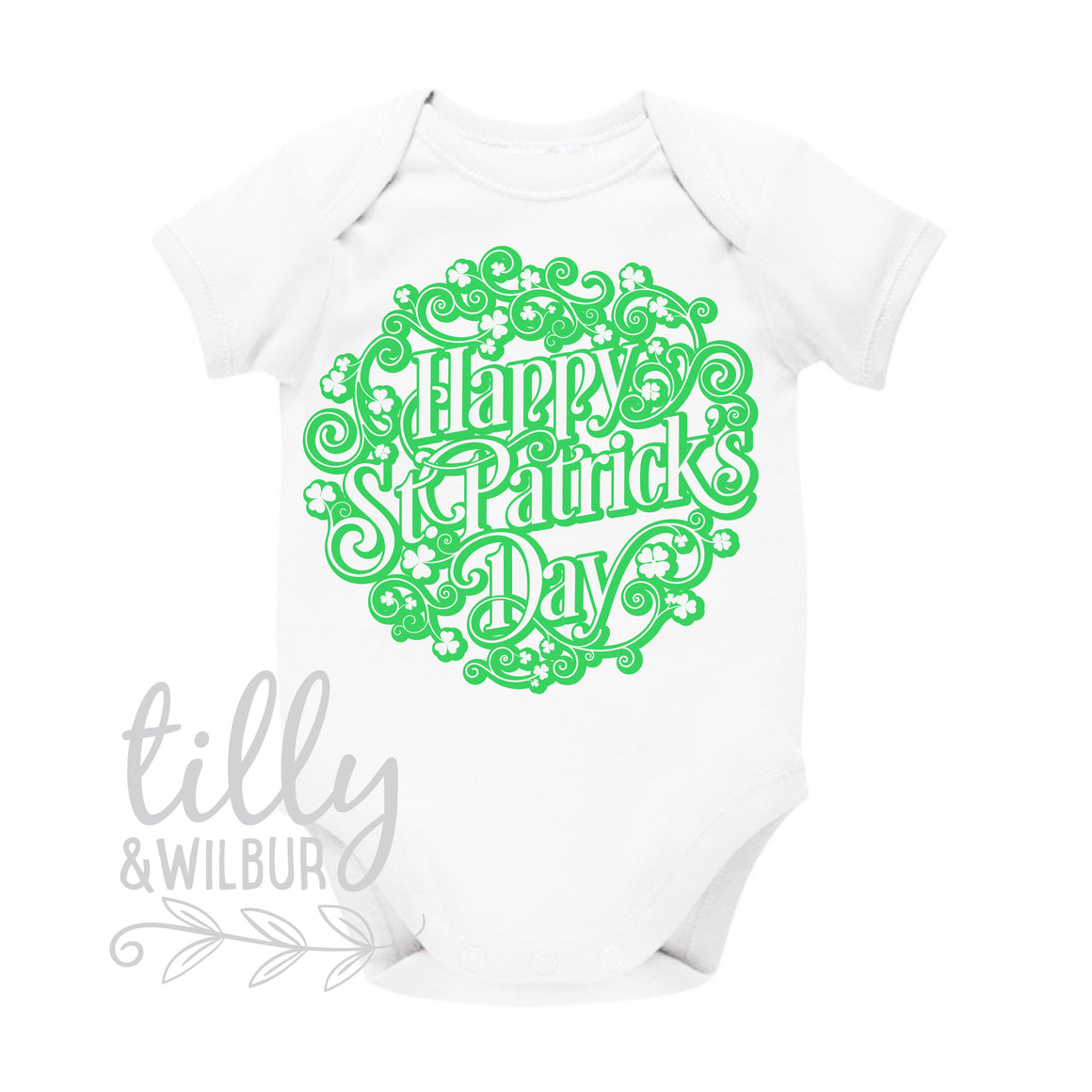 Happy St Patrick''s Day Baby Bodysuit, Happy St Paddy's Day Newborn Outfit, Celebrate All Things Irish, Ireland, Celtic, St Patrick, Paddy