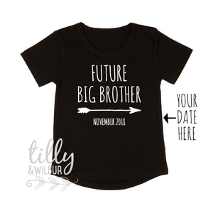 Future Big Brother T-Shirt For Boys, Personalised With Due Date, Big Brother Announcement Outfit, Big Bro Gift, Pregnancy Announcement Shirt