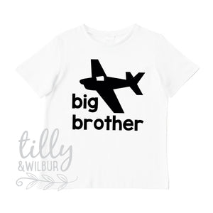 Big Brother T-Shirt With Plane, Big Brother Aeroplane T-Shirt, Boys Plane T-Shirt, Brother Gift, Pregnancy Announcement, Boys Clothing