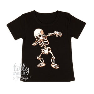 Dabbing Skeleton Halloween T-Shirt For Boys, Halloween Costume, Dab, Dabbing Skeleton, Boys Halloween Costume, Skeleton T-shirt, Halloween