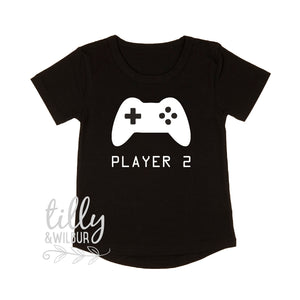 Player 2 T-Shirt, Player 1 Player 2, Father Son Matching Shirts, Matching Dad Baby, Sibling Set, Gaming, Father's Day Gift, Christmas Gift