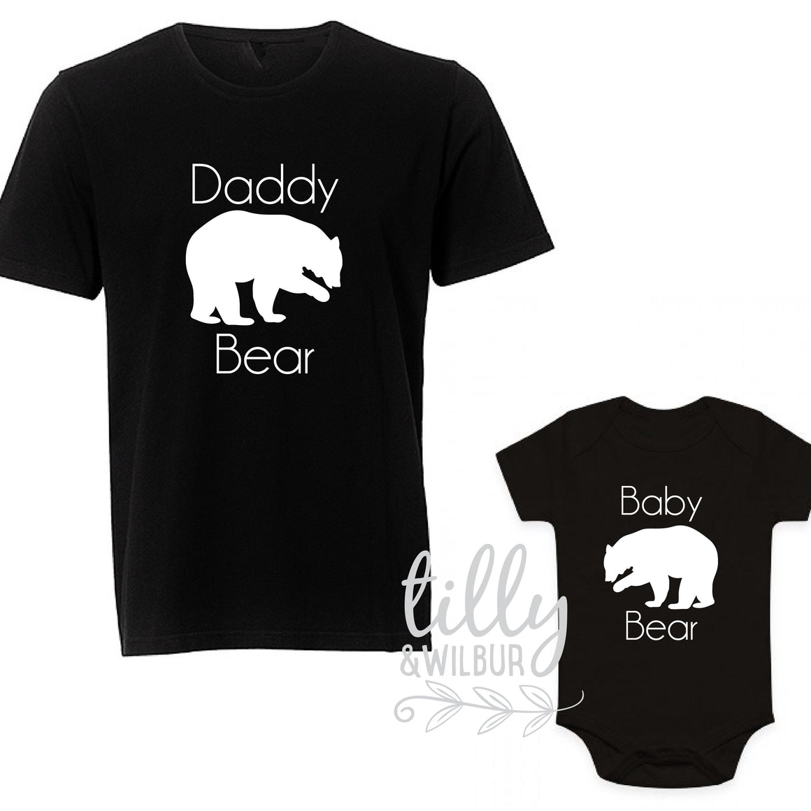 Daddy Bear Baby Bear Father's Day Shirts, Father Son Matching Shirts, Matching Daddy Baby Outfits, First 1st Father's Day, Matchy Matchy