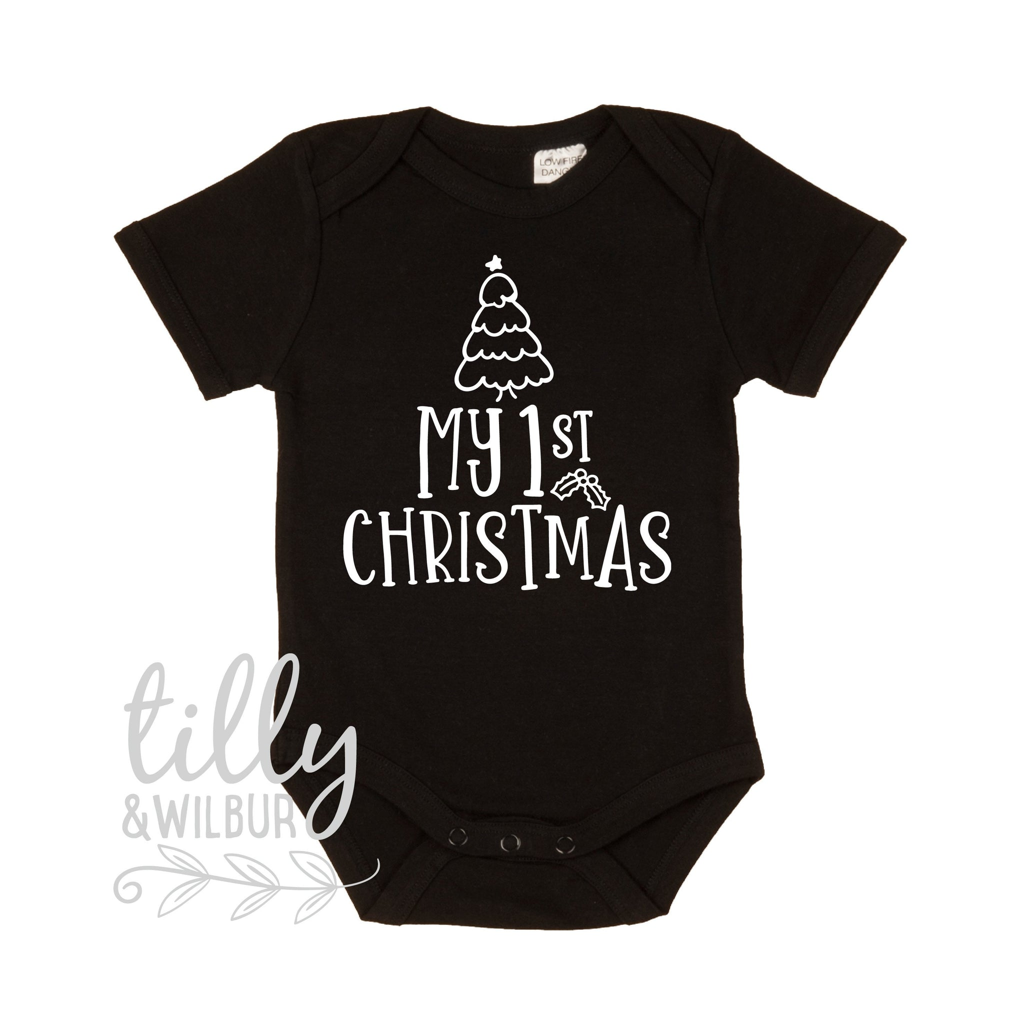 1157f0fd58f1 My First Christmas, 1st Christmas Baby Outfit, First Xmas Baby Bodysuit,  Unisex Christmas