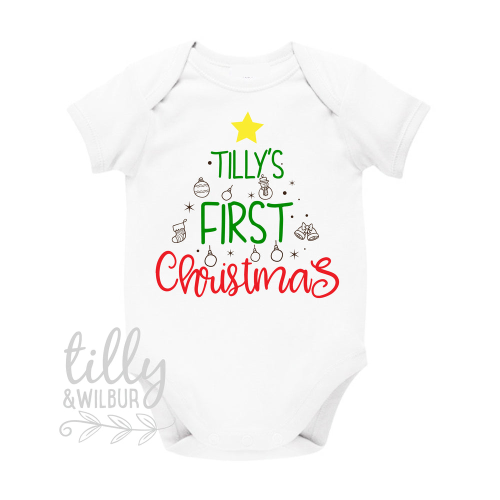 Personalised 1st Christmas Bodysuit