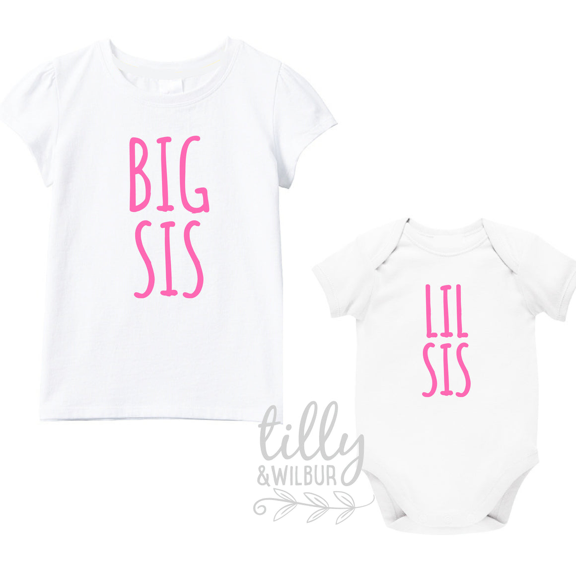 Big Sis Lil Sis Set, Sister Set, Sibling Set, Little Sister Big Sister, Pregnancy Announcement, Sister Gifts, Family Tees, Big Sister Shirt