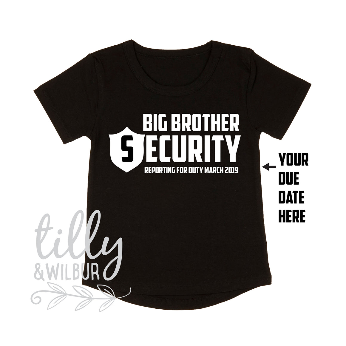 Big Brother Security Reporting For Duty, Personalised Date, Promoted To Big Brother, I'm Going To Be A Big Brother, Pregnancy Announcement