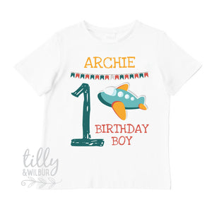 First Birthday T-Shirt With Plane, 1st Birthday Shirt With Aeroplane, Baby Boys Birthday, Boys Cake Smash, Boys First Birthday, 1st Birthday