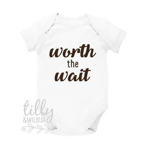 Worth The Wait Baby Bodysuit, Pregnancy Announcement, Maternity Photo Prop, Reveal, Worth The Long Wait, Some Things Are Worth The Wait,