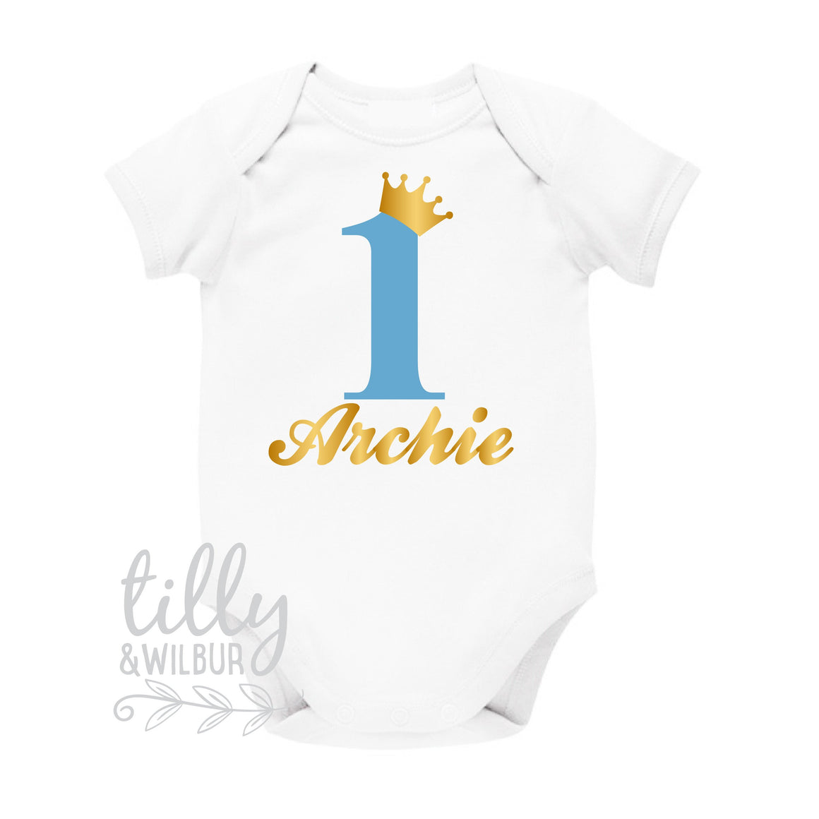 Personalised 1st Birthday Bodysuit, One Birthday Shirt, First Birthday Bodysuit For Boys, 1st Birthday Outfit, Birthday Girl, Little Prince