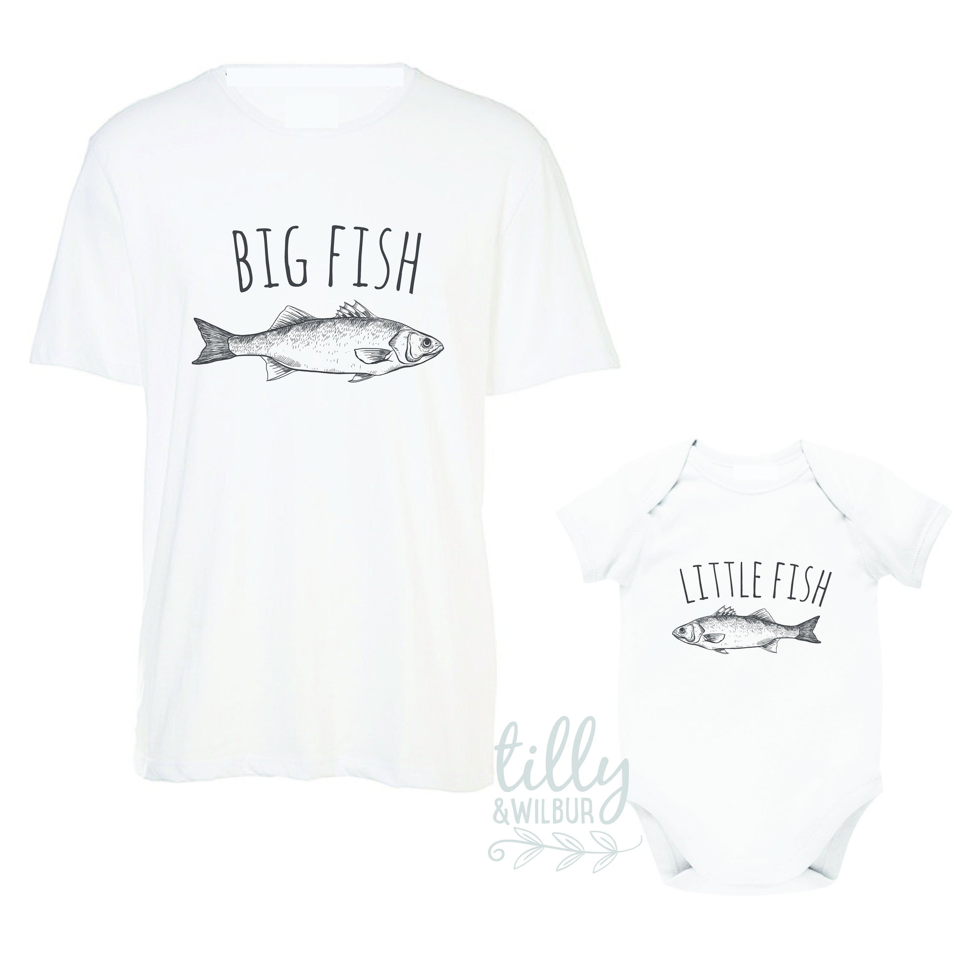Big Fish Little Fish Father Son Matching Shirts, Big Fish Little Fish, Matching Dad And Baby, Matching Dad And Kid, Father's Day Gift, Daddy