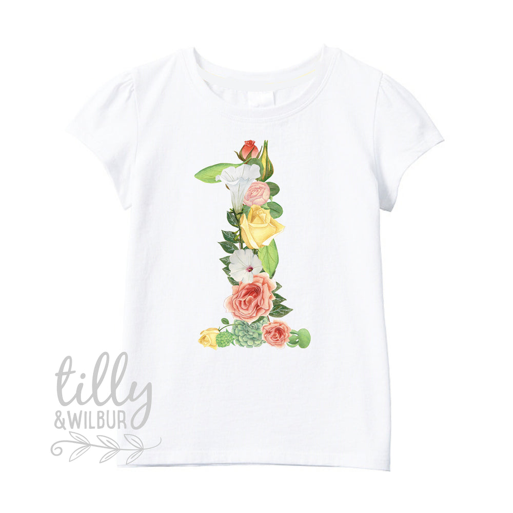 One Year Old Birthday Girl Tee