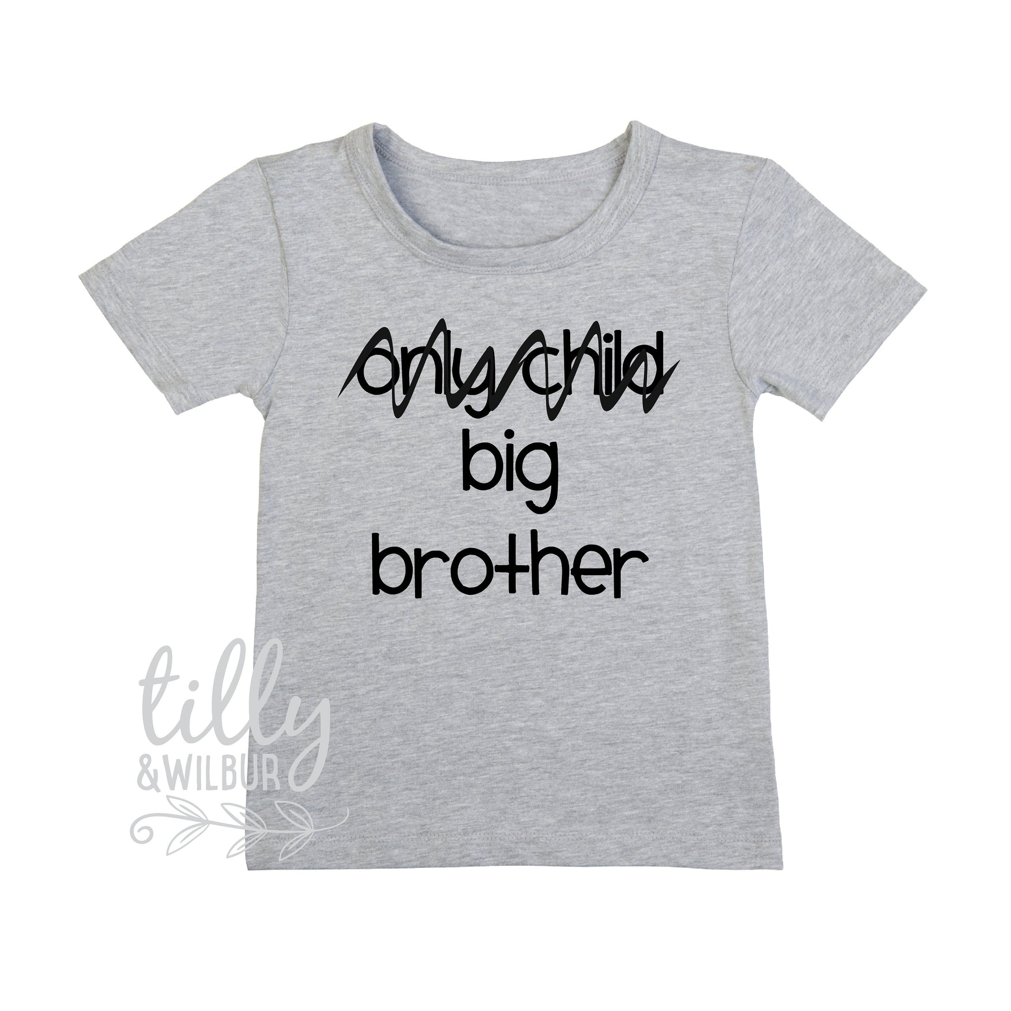 608daf36666ee Only Child, Big Brother T-Shirt For Boys, Future Big Brother T-